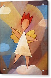 Balancing Angel Acrylic Print by Lutz Baar