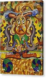 Balancing Clown Acrylic Print