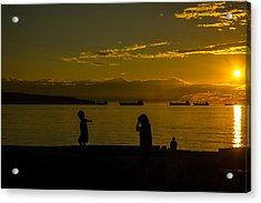 Balancing Into The Sunset Acrylic Print