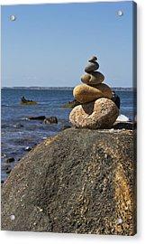 Balancing Rock 2 Acrylic Print by Rosie McCobb