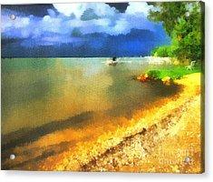 Balaton Shore Acrylic Print by Odon Czintos