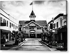 Balboa California Main Street Black And White Picture Acrylic Print by Paul Velgos