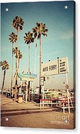 Balboa Island Ferry Nostalgic Vintage Picture Acrylic Print