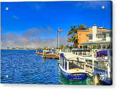 Balboa Island - North Acrylic Print by Jim Carrell