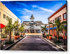 Balboa Main Street In Newport Beach Picture Acrylic Print by Paul Velgos