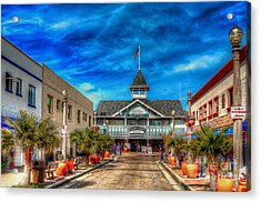 Acrylic Print featuring the photograph Balboa Pavilion by Jim Carrell
