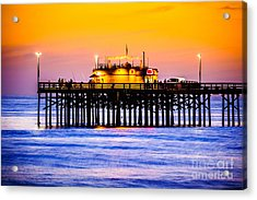 Balboa Pier At Sunset Picture Acrylic Print by Paul Velgos