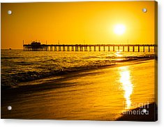 Balboa Pier Sunset In Orange County California Picture Acrylic Print by Paul Velgos
