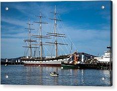 Rowing Past Balclutha And Steamship Eppleton Hall Acrylic Print