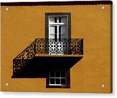 Balcon Acrylic Print by Hans-wolfgang Hawerkamp