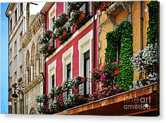 Balconies Of Leon Acrylic Print by Mary Machare