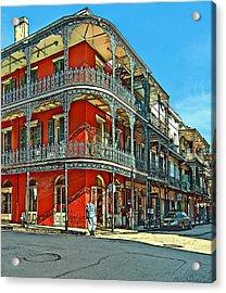 Balconies Painted Acrylic Print
