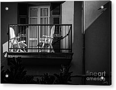 Balcony Bathed In Sunlight Acrylic Print