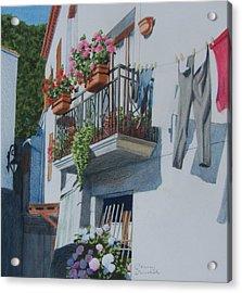 Balcony In Maratea Acrylic Print