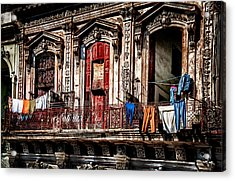 Balcony In Old Havana  Acrylic Print