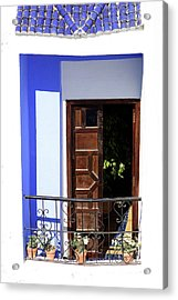 Balcony Old Medina Tangier Morocco Colour Version Acrylic Print by PIXELS  XPOSED Ralph A Ledergerber Photography