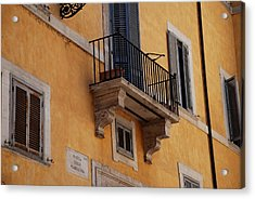 Acrylic Print featuring the photograph Balcony Piazza Della Madallena In Roma by Dany Lison