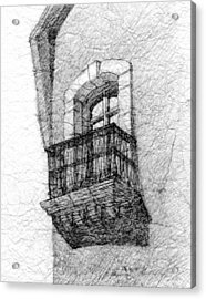 Balcony. Acrylic Print by Serge Yudin