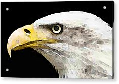 Bald Eagle By Sharon Cummings Acrylic Print by William Patrick