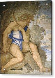 Baldassare Peruzzi 1481-1536. Italian Architect And Painter. Villa Farnesina. Polyphemus. Rome Acrylic Print by Baldassarre Peruzzi