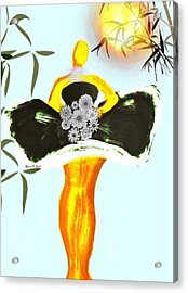 Baldchicspring Acrylic Print by Romaine Head