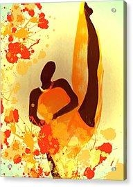 Baldheadkickinit Acrylic Print by Romaine Head