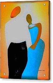 Baldheadlove Acrylic Print by Romaine Head
