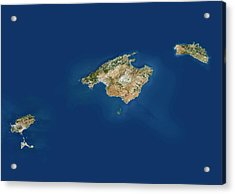 Balearic Islands Acrylic Print by Planetobserver/science Photo Library