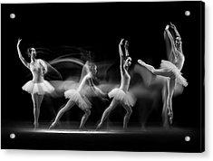 Balerina Art Wave Acrylic Print