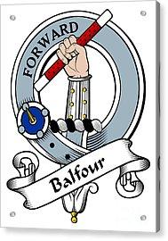 Balfour Clan Badge Acrylic Print by Heraldry
