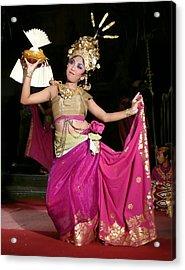 Bali Dancer Acrylic Print by Jack Edson Adams