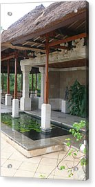 Bali Pool Under Roof Acrylic Print by Jack Adams