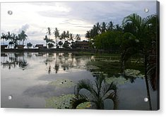 Bali Reflections In The Bay Acrylic Print by Jack Adams