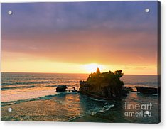 Bali Tanah Lot Temple At Sunset Acrylic Print by Fototrav Print