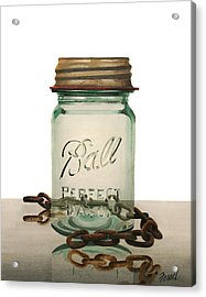 Acrylic Print featuring the painting Ball And Chain by Ferrel Cordle