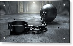 Ball And Chain In Prison Acrylic Print