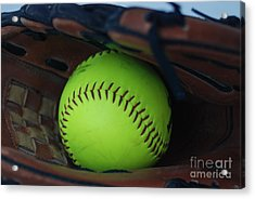 Ball And Glove Acrylic Print