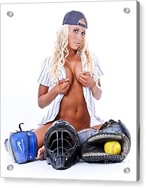 Ball Girl Acrylic Print