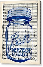 Acrylic Print featuring the painting Ball Jar Classical #119 by Ecinja Art Works