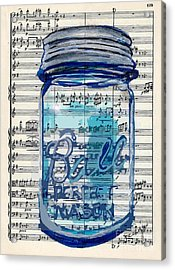 Ball Jar Classical  #129 Acrylic Print by Ecinja Art Works