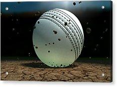 Ball Striking Bounce Acrylic Print