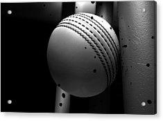 Ball Striking Stumps Acrylic Print