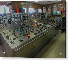 Ballast Control Panel Of The Ocean Valiant Semi Submersible Drilling Rig Acrylic Print