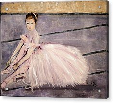 Acrylic Print featuring the painting Ballerina by Aleezah Selinger