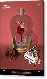 Ballerina In A Bottle - Kiko Acrylic Print by Andre Price