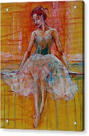 Ballerina In Repose Acrylic Print by Jani Freimann