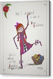 Ballerina Acrylic Print by Mary Kay De Jesus
