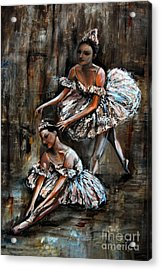 Ballerina Acrylic Print by Nancy Bradley