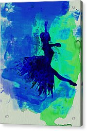 Ballerina On Stage Watercolor 5 Acrylic Print