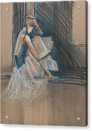 Inner Turmoil Ballerina Sketch Acrylic Print